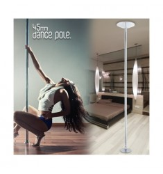 BARRA POLE DANCE CROMO 45 MM ESTÁTICA-GIRATORIA
